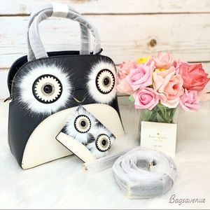 Kate spade set Cameron small Lottie penguin black